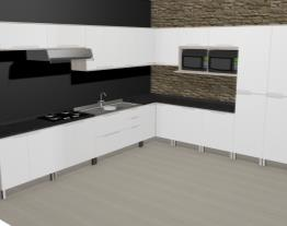 Cozinha Modulada Completa com 16 Módulos Solaris Carvalle/Branco - Kappesberg