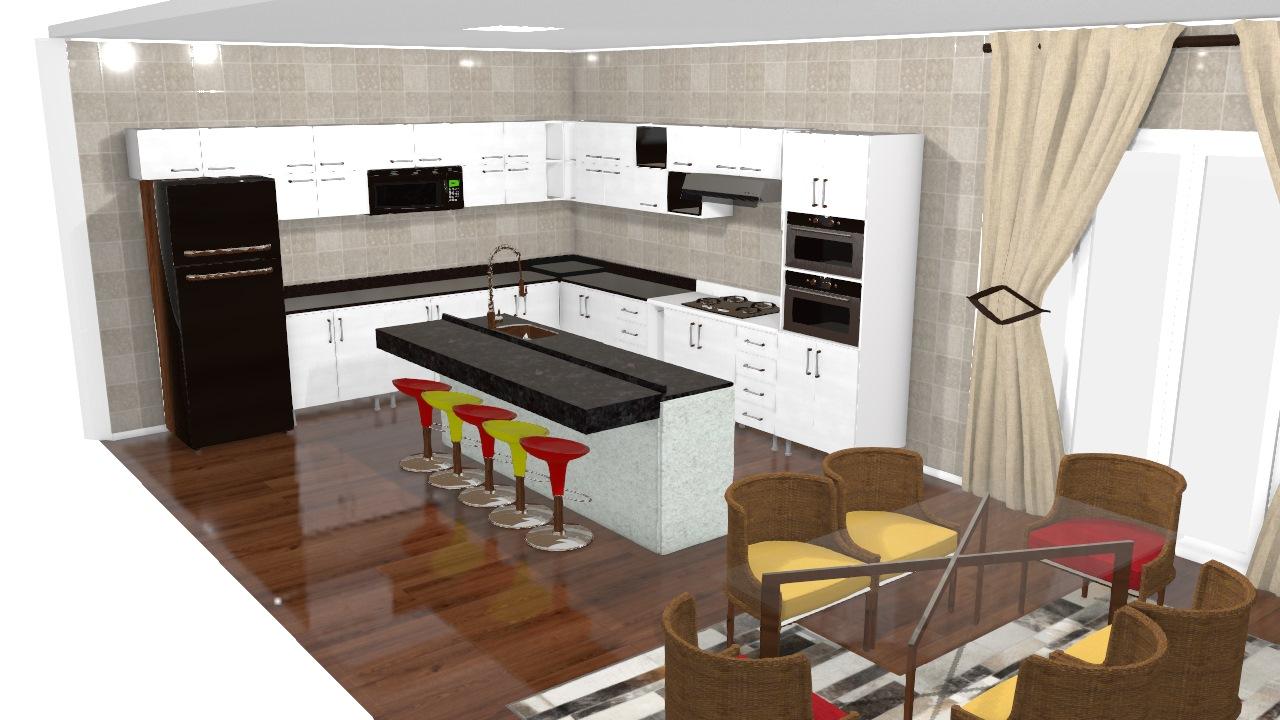 Cozinha Planejada & Sala de Jantar