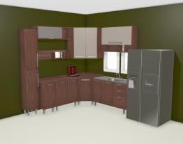 Cozinha Modulada Completa com Balcão Multifuncional Smart Turin/Cristal - Henn