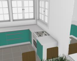 Op 01 Cozinha / Sala Casa meio Lote Opção 1