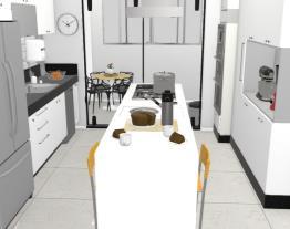 Projeto com ilha na cozinha