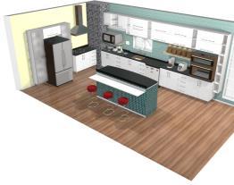 Cozinha com Ilha Central e Bancada