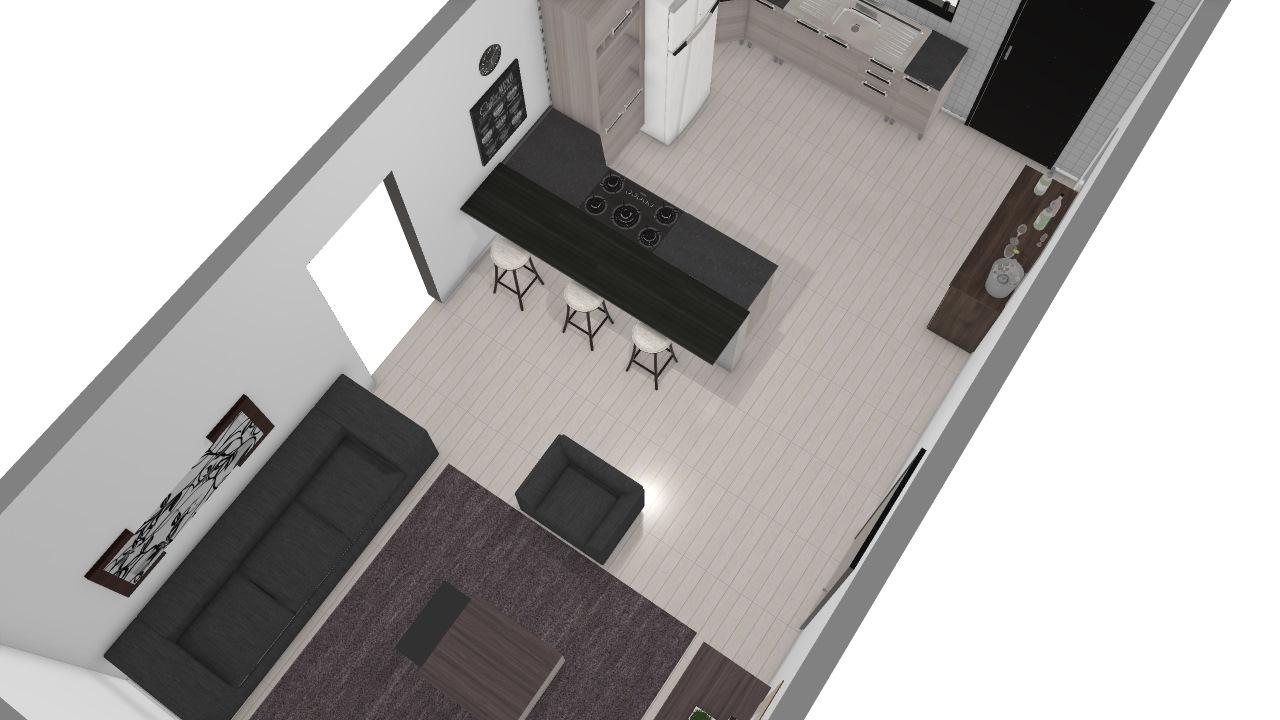 Cozinha x sala
