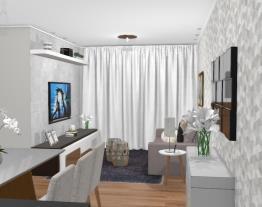 Cozinha integrada as salas pequenas - Graziela Lara