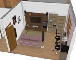 Área dos quartos, casa de Line e Le