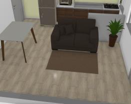 sala e cozinha padrão
