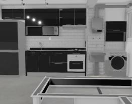 YLS cozinha CasaMob PLAY com bancada granito