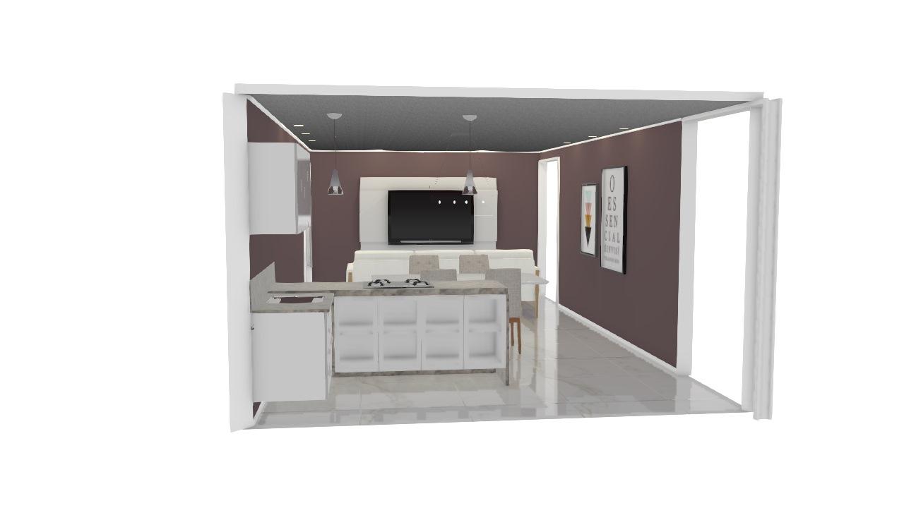 Ticiannie Soriano - Projeto Cozinha + Living
