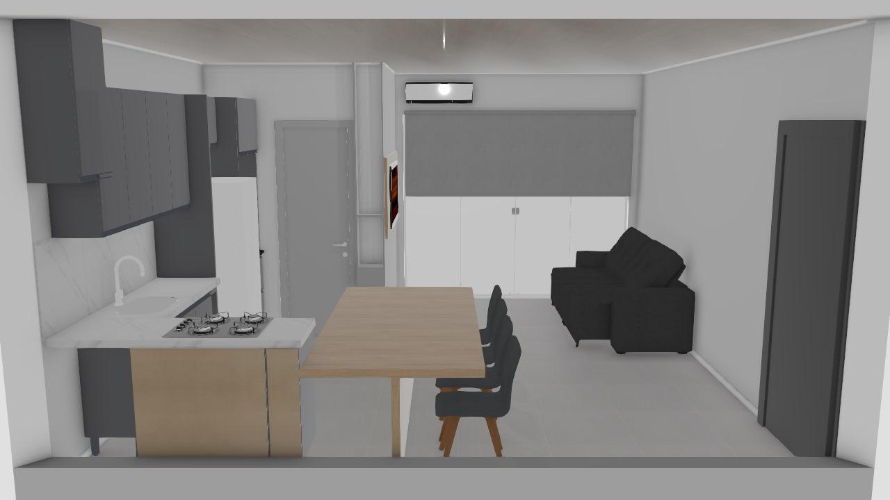 REFORMA 2020 cozinha & sala porcelanato