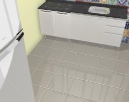 Ambientes integrados:  Sala e Cozinha