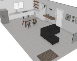 sala/cozinha conceito aberto