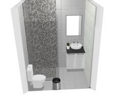 Banheiro quarto preto e branco