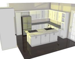 Cozinha Simples com Ilha Central