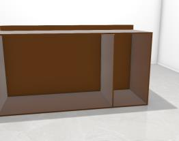 Balcão caixa e prateleira