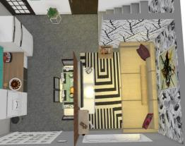 sala e cozinha limpa