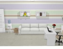 Recepção consultório médico pediatra - Graziela Lara