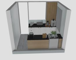 Meu projeto Henn Cozinha corredor com meu fogão