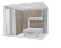Quarto cama embaixo janela