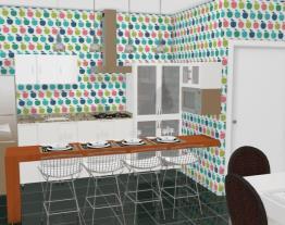 Cozinha e sala de jantar...
