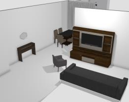 sala estar e sala de jantar Residencial Anita