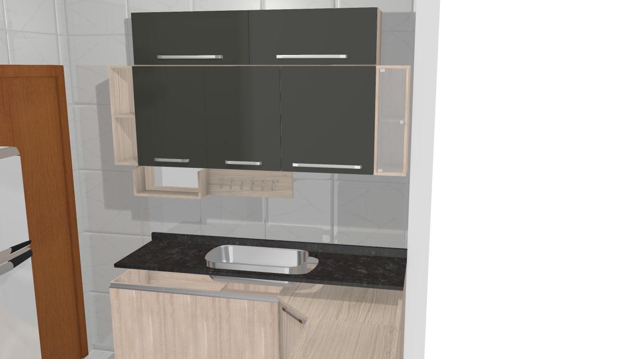 Cozinha no cooktop