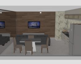 Sala e cozinha juntas