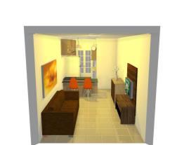 sala/ cozinha com balcao