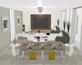 Sala de estar e home theater 2 - Graziela Lara