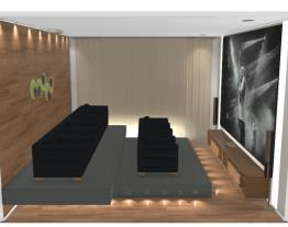 3 Home office sala de cinema - Graziela Lara
