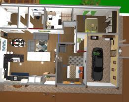 Casa do sitio sem desnivel e versao acesso ao deck atras da garagem