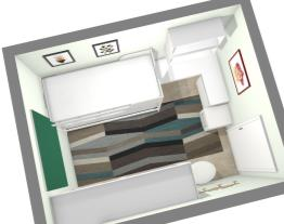 Quarto SOLTEIRO - apartamento pequeno - opção 2