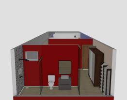 3 cômodos, banheiro no fundo