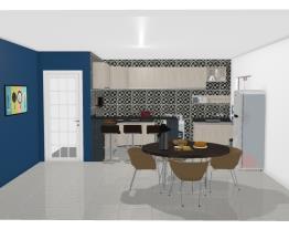 Cozinha moderna azul