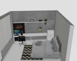 Projeto quarto de casal com penteadeira