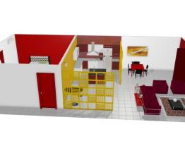 Sala, coxinha e quarto