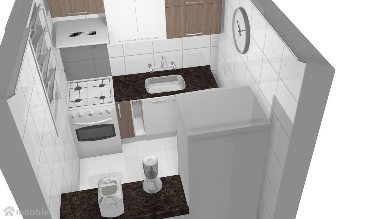 Cozinha branca com Teka 2 - Granito Café Imperial