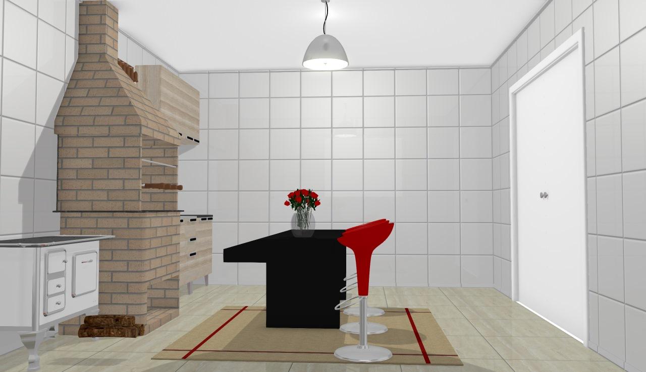 churrasqueia preta e vermelha