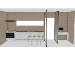 Cozinha  funcional e escritório