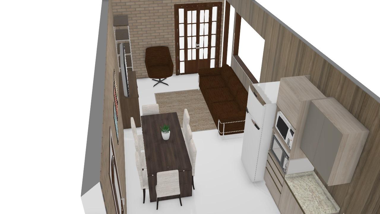 sala e cozinha Meu projeto Kappesberg