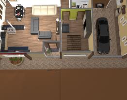 Casa do sitio sem desnivel e versao acesso ao deck