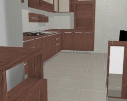 Cozinha Americana Modulada com Paneleiro com espaço para Forno e Microondas Smart Turin/Cristal - Henn