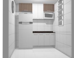 Cozinha 2,00 branca com Teka - Granito Café Imperial