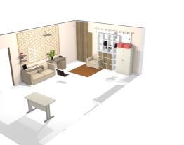 sala com banheiros