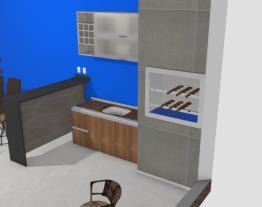 Meu projeto area lavanderia com area gourmet
