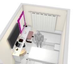 quarto planejado com duas cama de solteiro