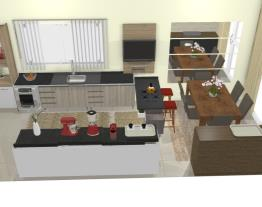 Cozinha integrada pequena - Graziela Lara