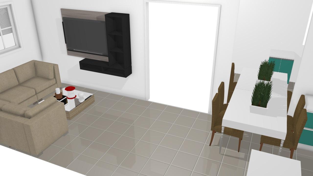 Op 02 Cozinha/sala Casa meio lote opção 2