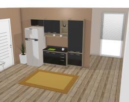 Cozinha Modulada Completa 4 Módulos Sicília Argila/Preto - Multimoveis