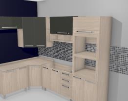Cozinha Modulada Completa com 7 Módulos Smart Fendi/Amarula - Henn