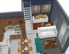 sala cozinha flat